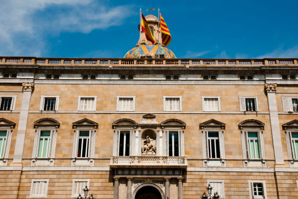 Catalonia Government Palace - Barcelona Catalonia Government Palace - Barcelona - Spain catalonia stock pictures, royalty-free photos & images