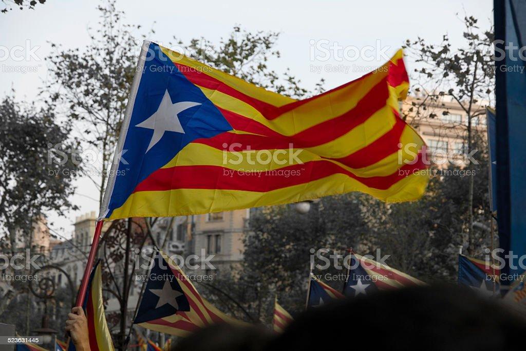 Katalonien Republikanische Flagge – Foto