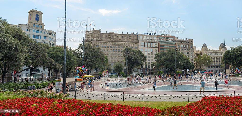Catalonia Square- Barcelona  - Spain Lizenzfreies stock-foto