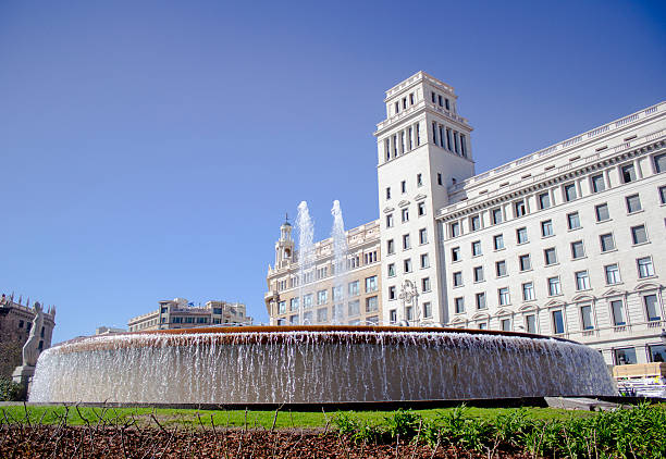 Catalonia square in Barcelona, Spain Plaza de Catalunya;  meaning in English