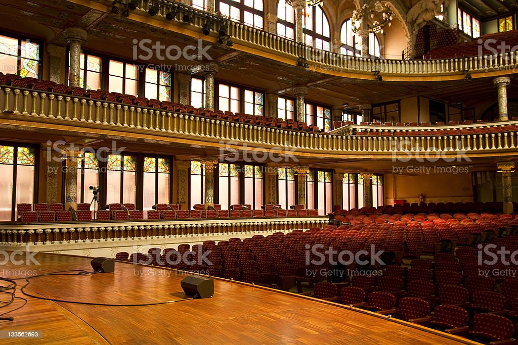 Catalonian Music Palace stock photo