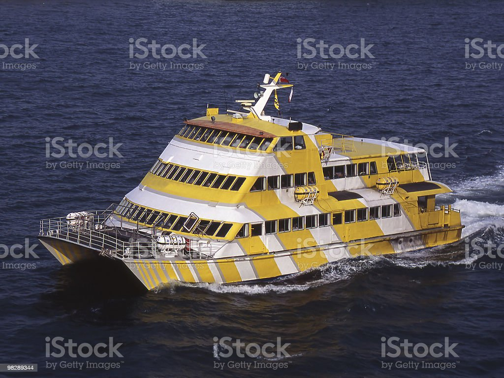 Catamaran Ferry (Isle of Wight to Portsmouth). royalty-free stock photo