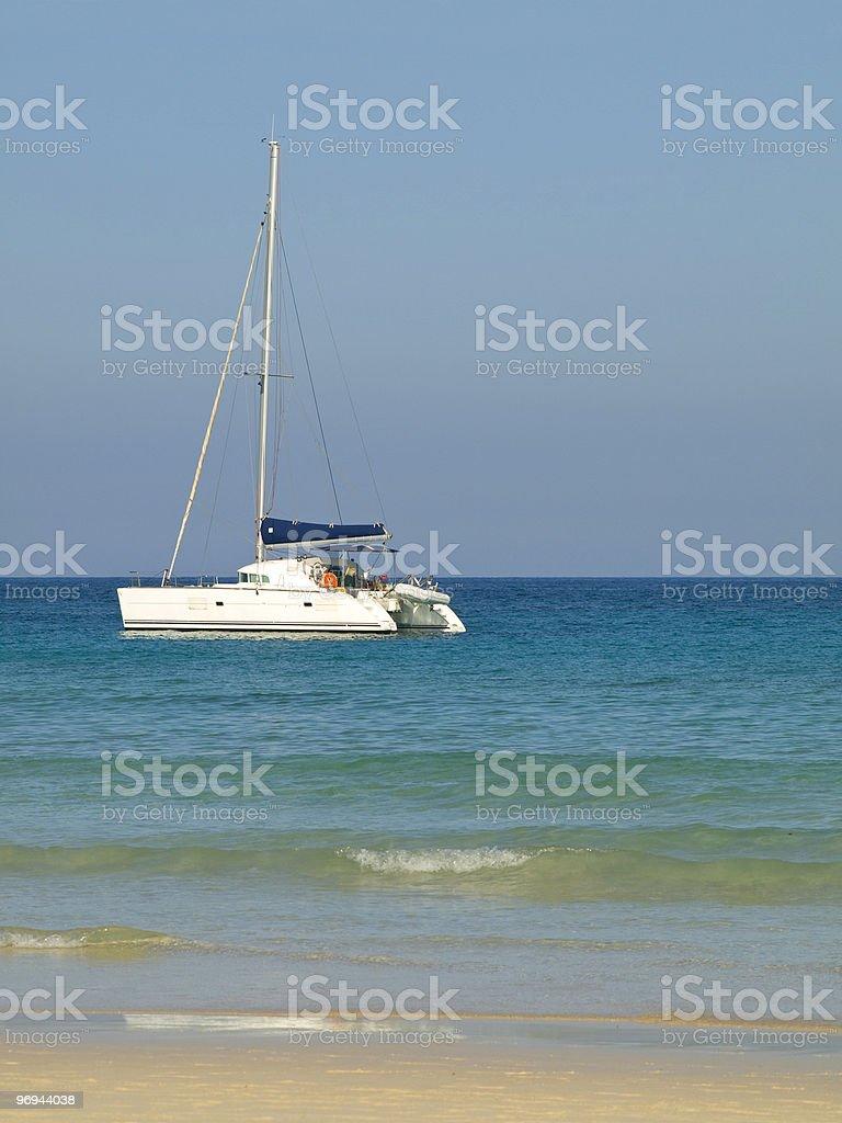 Catamaran in Morro Jable royalty-free stock photo