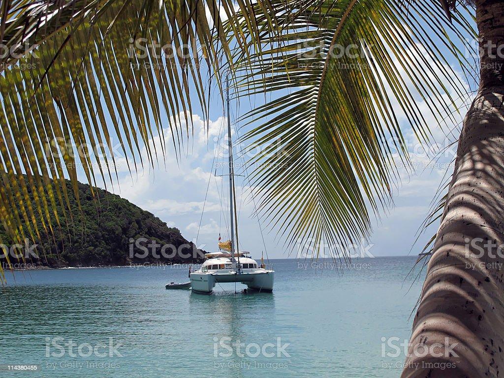 catamaran au caraïbes stock photo