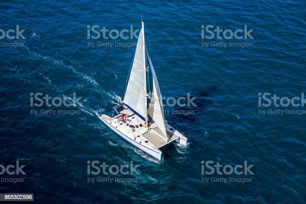 Photo of Catamaran navigating