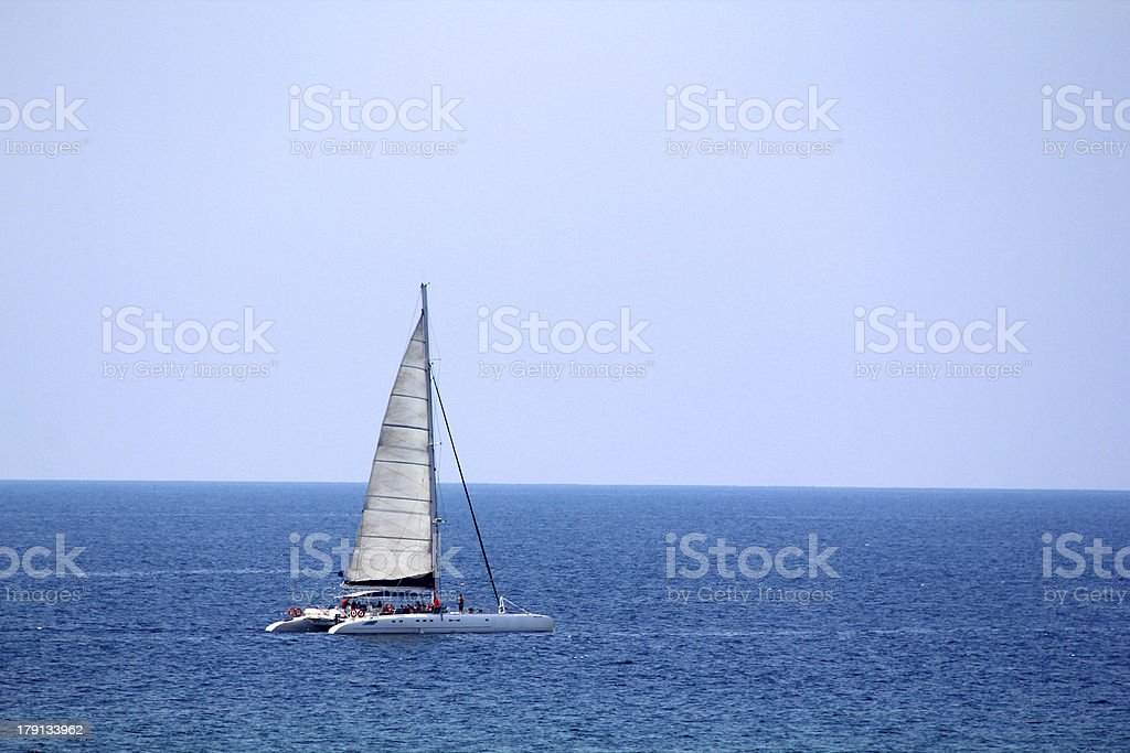 Catamaran royalty-free stock photo