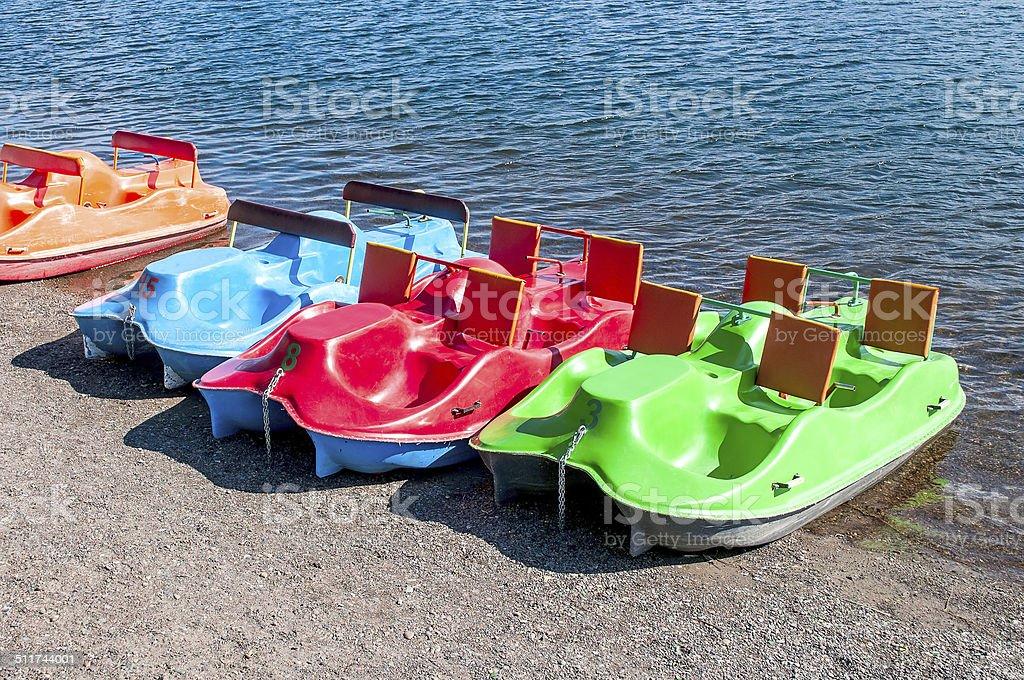 catamarans stock photo