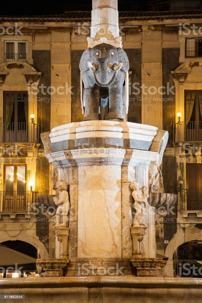 Catania by night stock photo