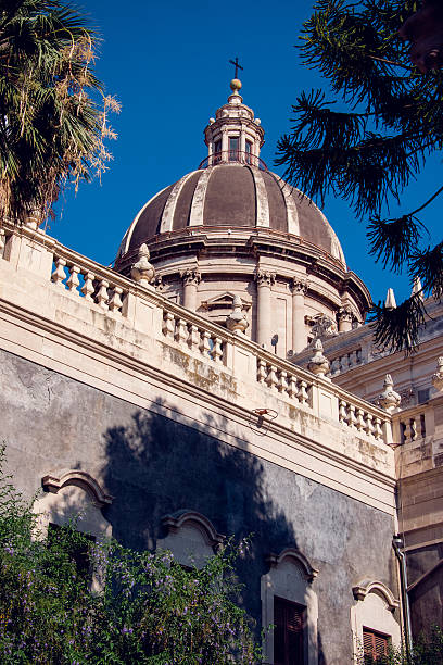 Catania Cathedral tomb of Saint Agatha,Sicily,Italy stock photo