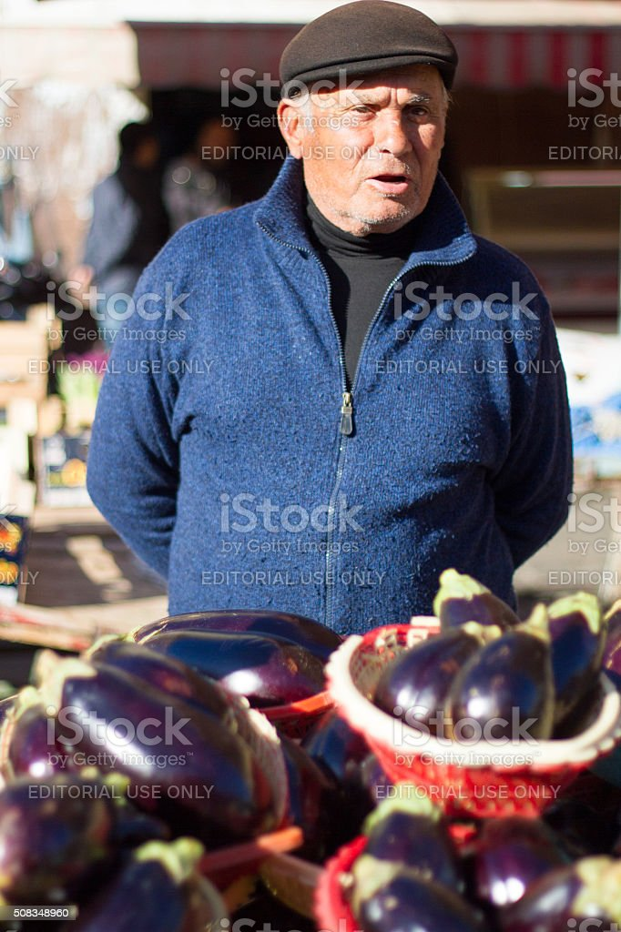 47b1b36ee036e Catania Sicily Vendor Selling Eggplant At Outdoor Market Stock Photo ...