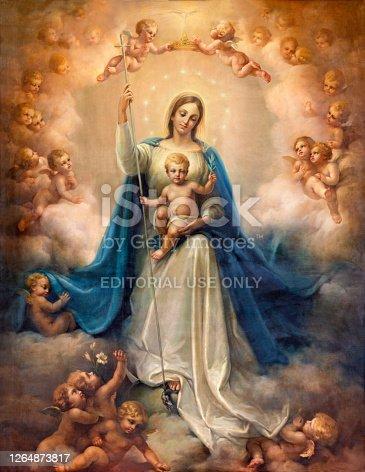 istock Catania - The painting of Madonna (Vergine Maria Corredentrice) in Duomo. 1264873817