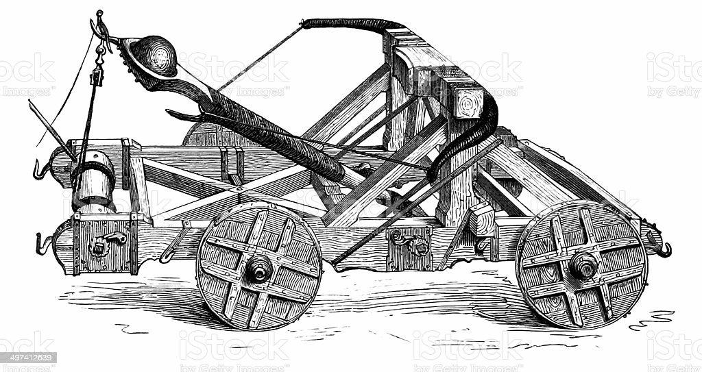 Catapult: Ancient Ballistic Device stock photo