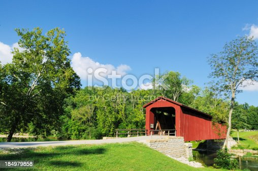 Please click my private lightbox links below for more images like this -- Thanks!Cataract Falls Indiana Covered Bridge over Mill Creek.