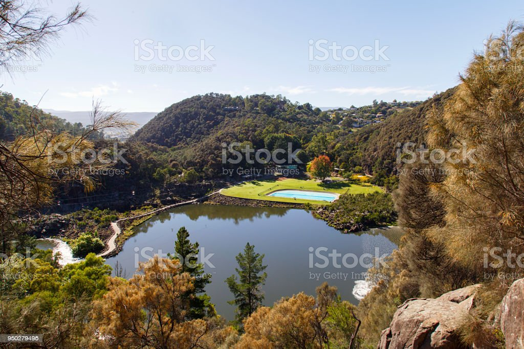 Cataract Gorge in Launceston, Tasmania stock photo