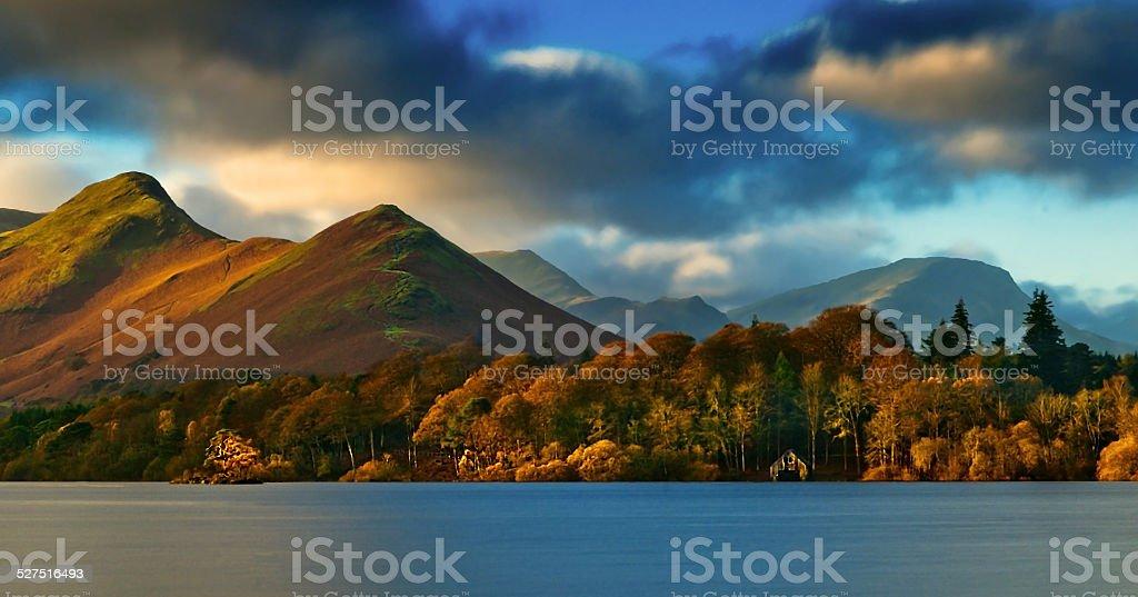 Catbells over Derwentwater Catbells across Derwentwater in the English Lake District. Autumn Stock Photo