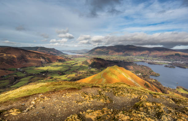 Catbells Summit stock photo