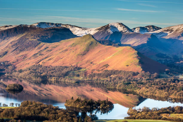 Catbells Sunrise - Derwentwater stock photo