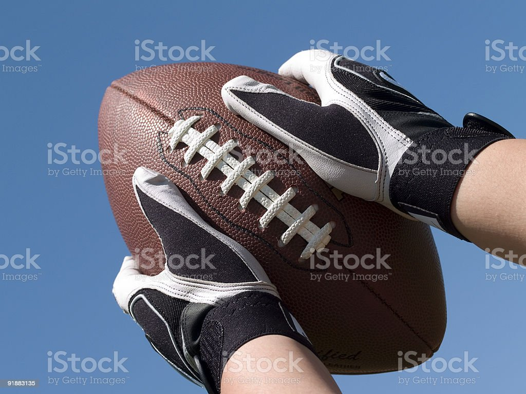 Catch a Football royalty-free stock photo