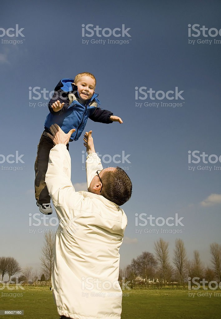 catch me dad royalty-free stock photo
