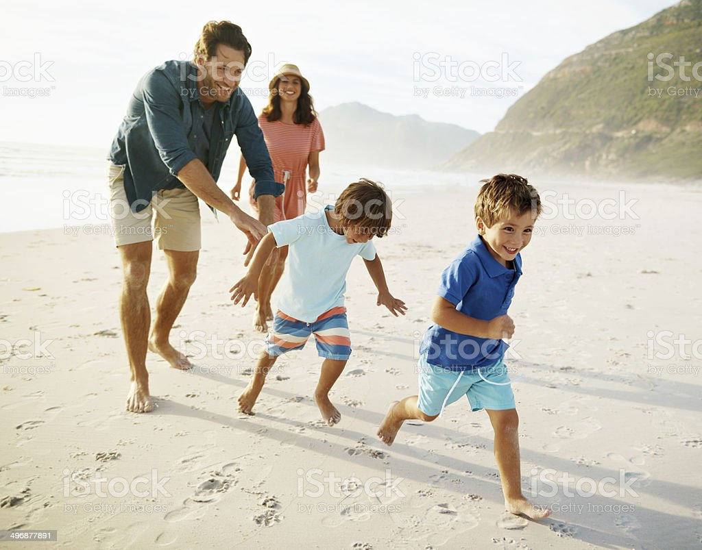 Catch me if you can! stock photo