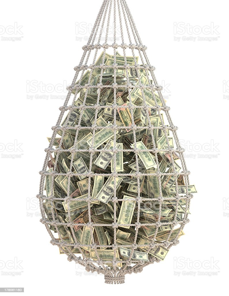 Catch Money royalty-free stock photo