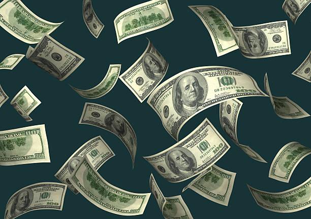 Catch the Falling Money stock photo