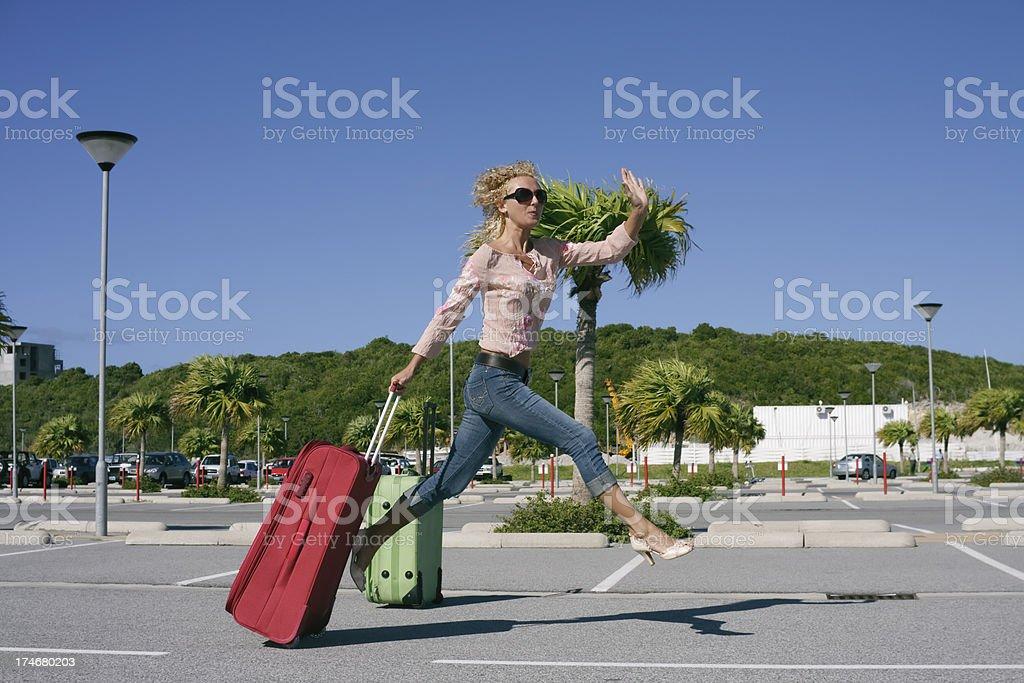 catch the flight stock photo