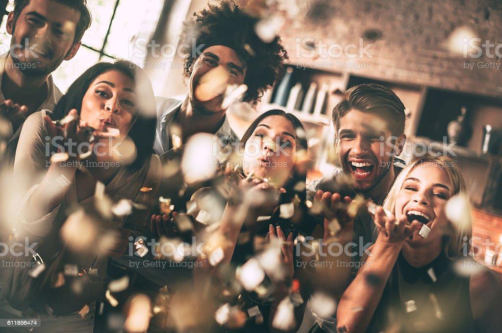 Catch the fun! stock photo
