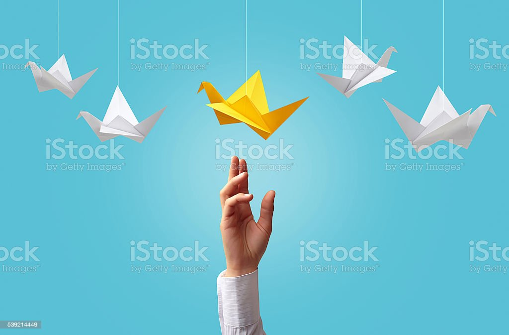 Catch the good idea stock photo