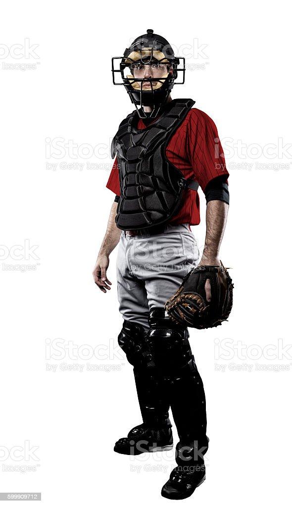 Catcher Baseball Player stock photo
