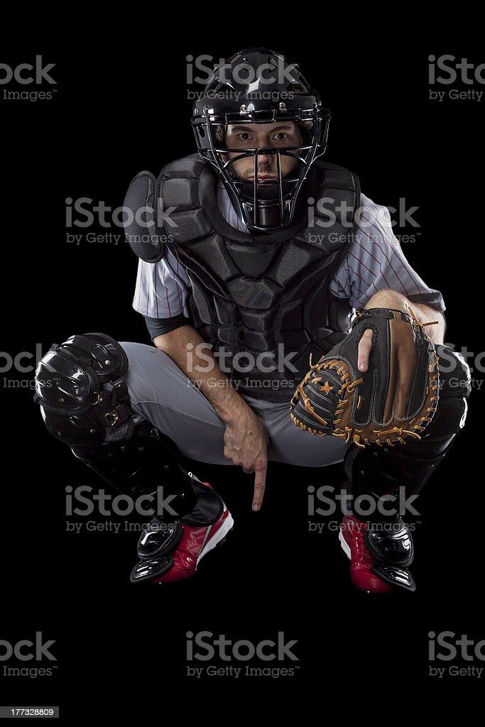 Catcher Player stock photo