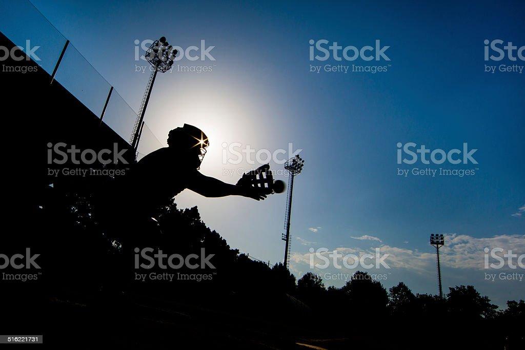 Catcher Silhouette stock photo