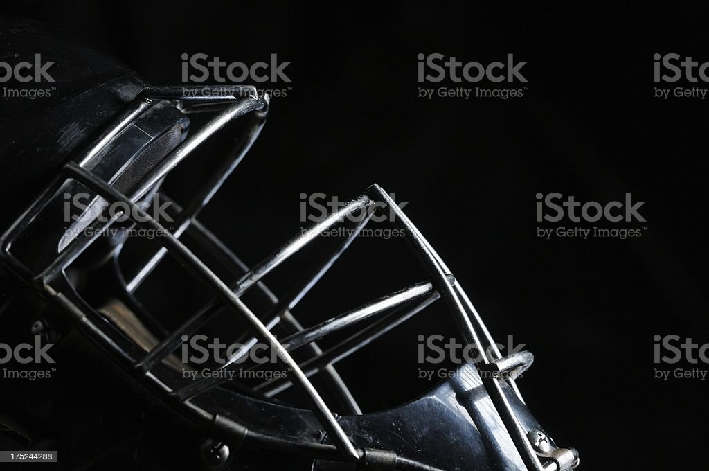 Catchers mask on black background stock photo