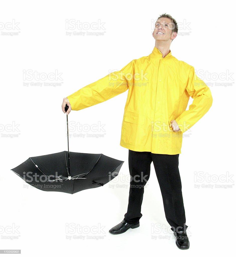 Catchin' Rain royalty-free stock photo