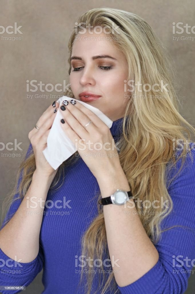 Catching A Cold stock photo