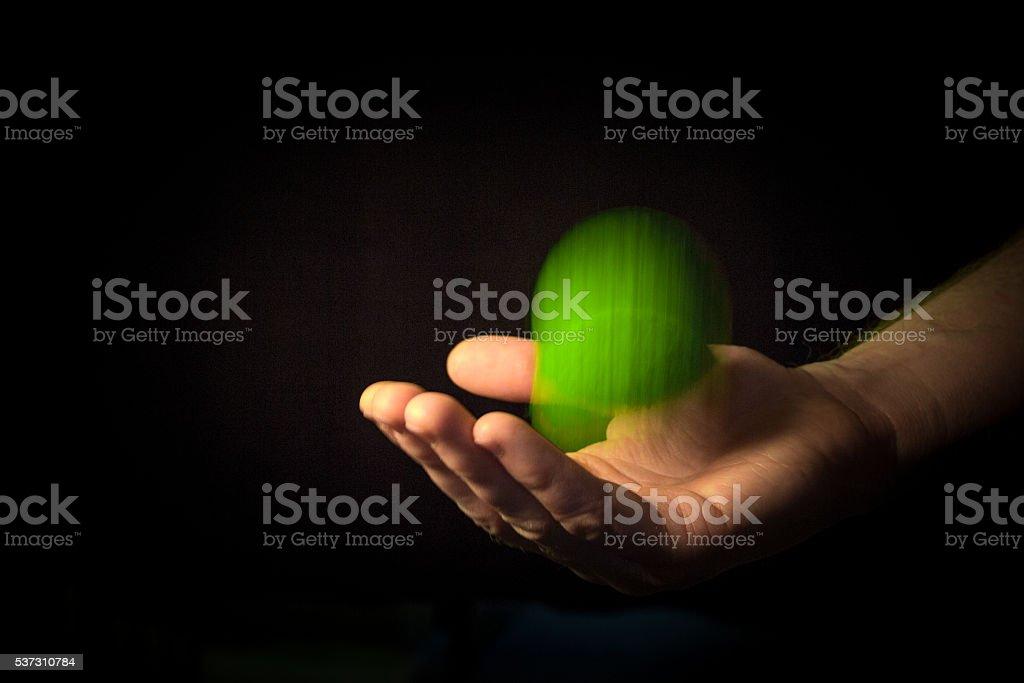 Catching A Tennis Ball stock photo