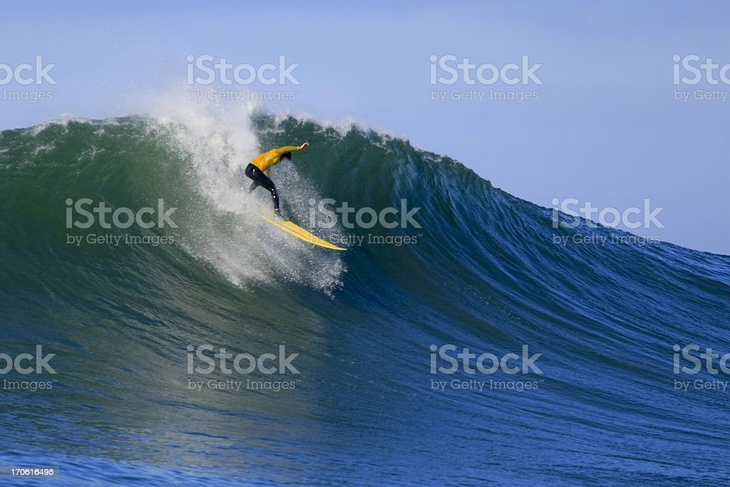Catching a Wave - 3 stock photo