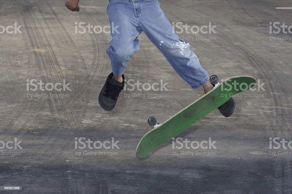 Catching air on a skateboard royalty-free stock photo
