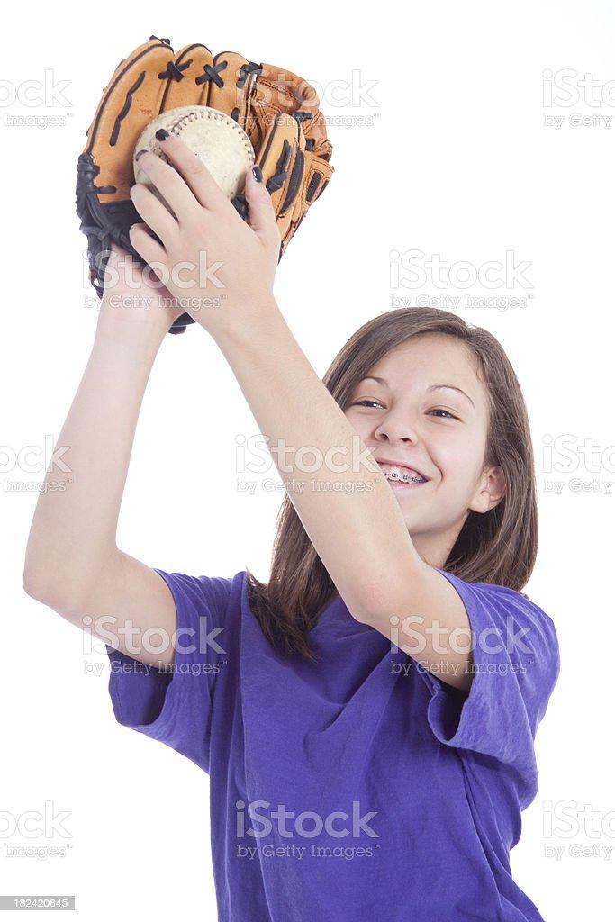 Catching Baseball stock photo