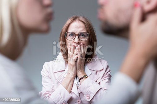 istock Catching cheating wife 490286900
