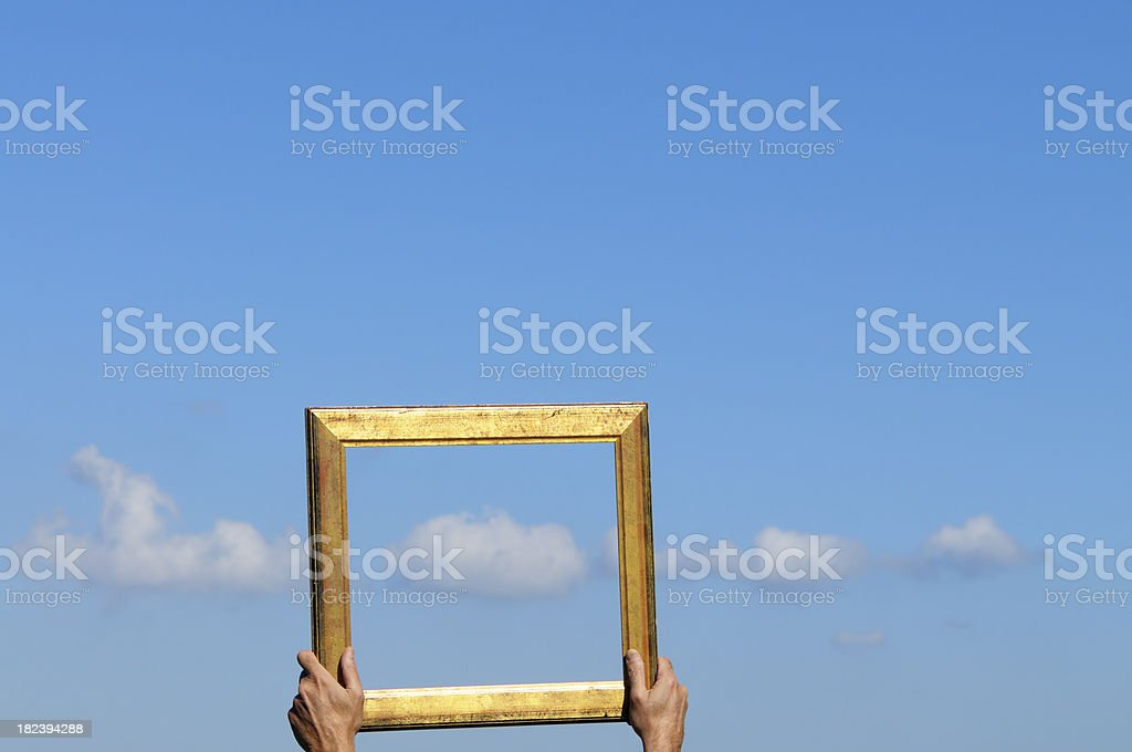 Catching Clouds royalty-free stock photo