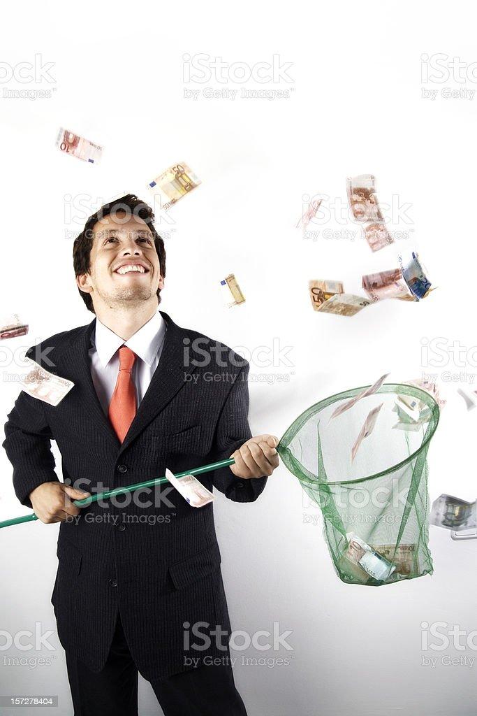Catching  money royalty-free stock photo