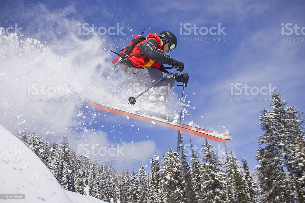 Catching some air royalty-free stock photo
