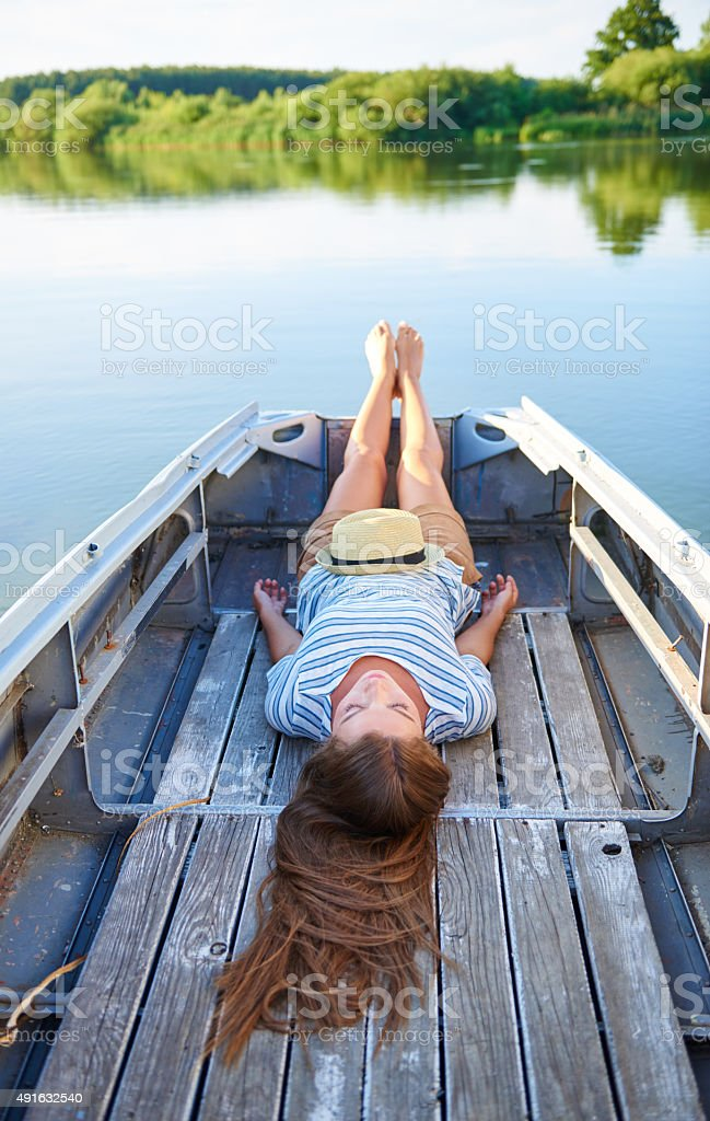 Catching some zzz's out on the lake - Photo