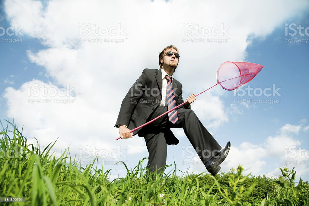 Catching success royalty-free stock photo