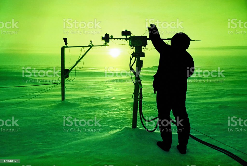 catching the sun at North Pole stock photo