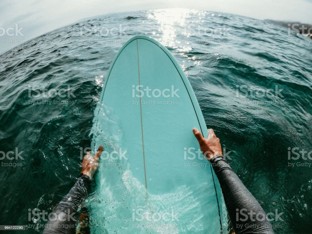 Catching the waves stock photo