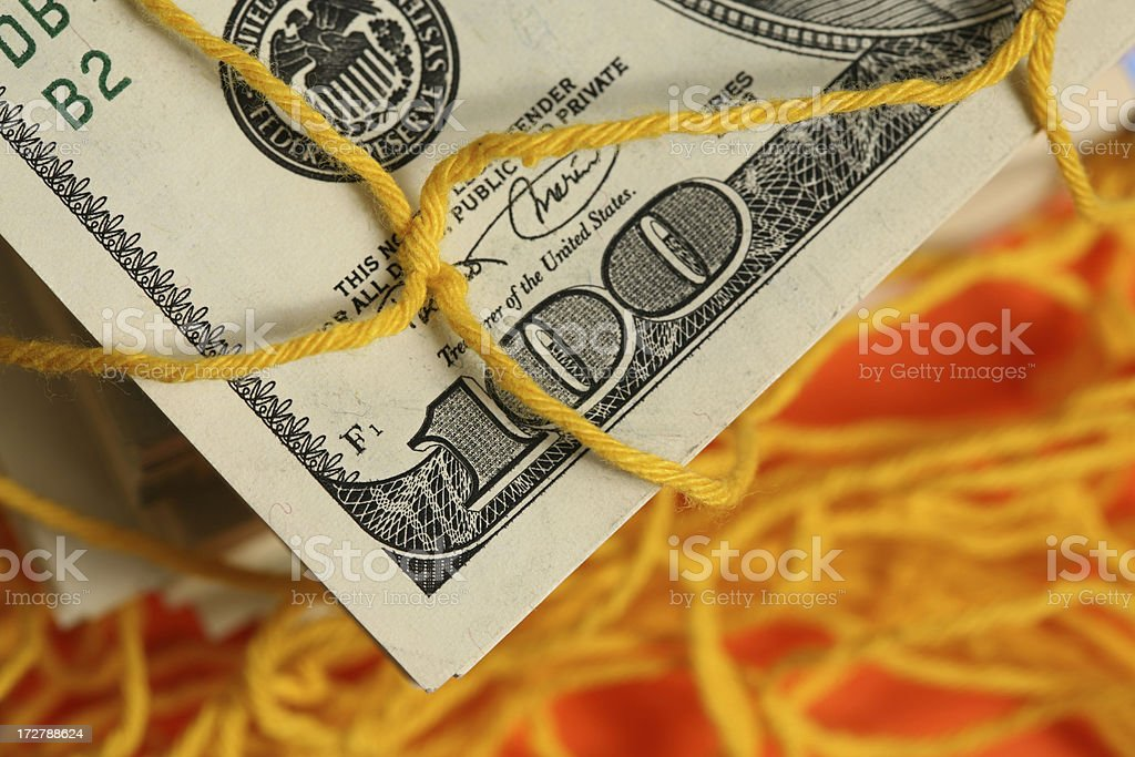 Catching treasures with nest royalty-free stock photo