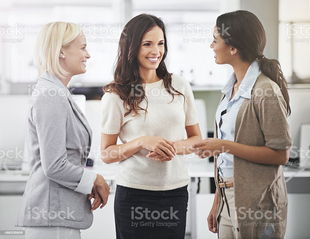 Catching up after work stock photo