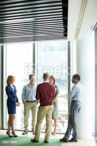 istock Catching up before the meeting 533719082